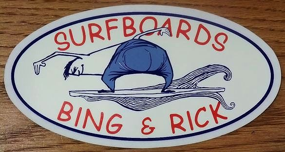 BIG&RICK SURFBORDS(ビング&リック サーフボード) ステッカー