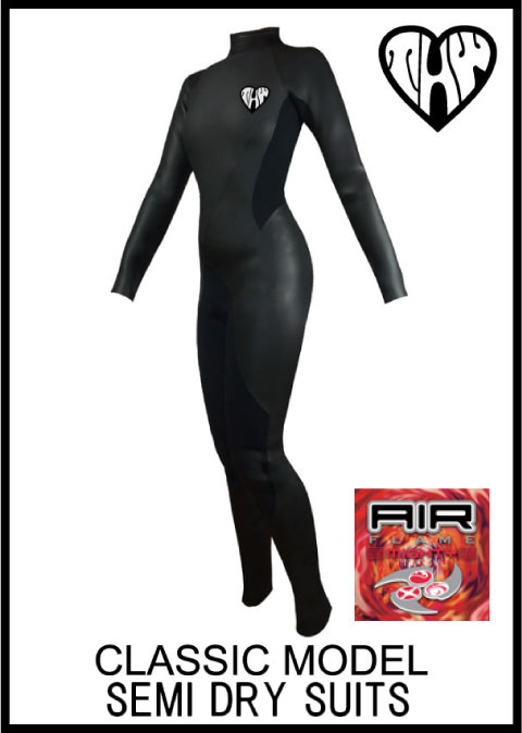 【国内最強起毛素材】 thw wetsuits 【セミドライ/エアフレイム マイティー】 クラシック/ウェットスーツ レディース【インナーネック付】