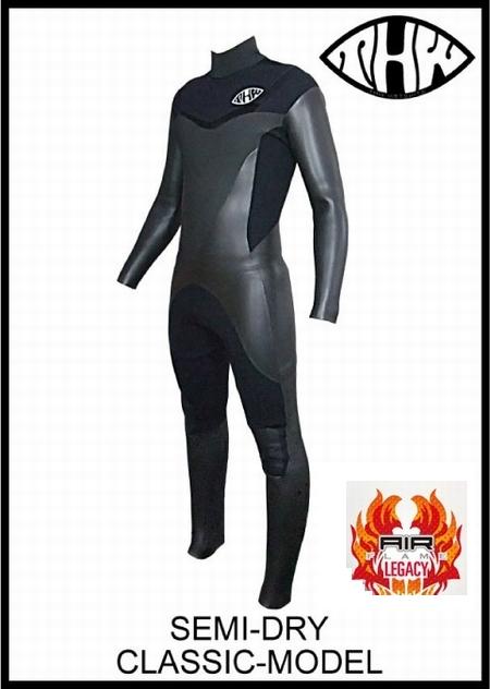 極暖起毛素材 エアフレイム レガシー 【送料無料】 セミドライ5×3mm/ノンファスナー クラシックモデル ウェットスーツ