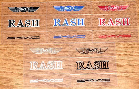 【RASH WETSUITS】ラッシュウェットスーツ 【ステッカー】 クリスタルパック【携帯電話用】