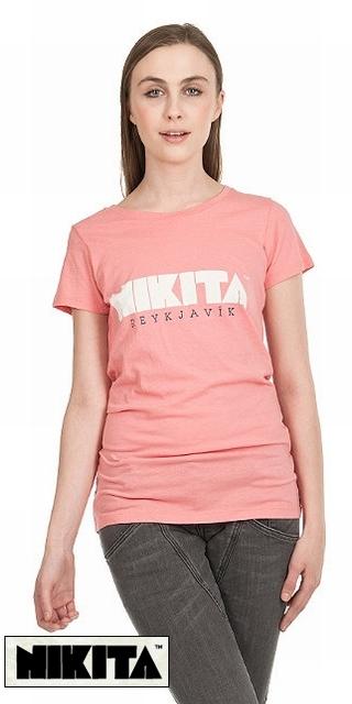 NIKITA【ニキータ】 Tシャツ Reykjavik ピンク/Sサイズ