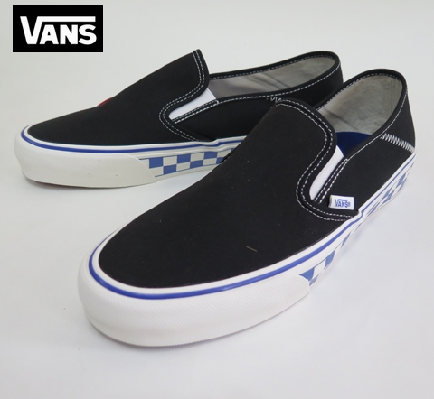 【VANS】  SLIP-ON SF/スリップオン  CHECKER/BLACK