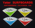 Yater SURFBOARDS SANTABARBARA CALIFORNIA USA (イェーター)ステッカー