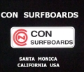CON SURFBOARDS SANTA MONICA CALIFORNIA USA ステッカー/002