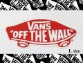 VANS(バンズ) ステッカー OFF THE WALL RED/Lサイズ