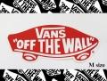 VANS(バンズ) ステッカー OFF THE WALL RED/Mサイズ