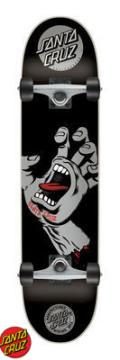 SANTA CRUZ(サンタクルーズ)  KIDS コンプリートボード(子供用スケートボード) SCEAMING HAND 7.4×27.6