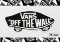 VANS(バンズ) ステッカー OFF THE WALL BLACK/Mサイズ