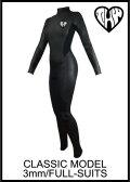 10日後お届け可能!【送料無料】 thw wetsuits クラシックタイプ/3x3mm フルスーツ 【レディース】
