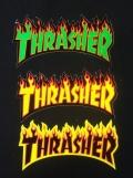 THRASHER(スラッシャー) ステッカー 009 Fire/Lサイズ