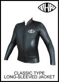 どこよりも早いお届け【送料無料】 thw wetsuits 【フロントジップジャケット】長袖タッパー 【クラシック ウェットスーツ】
