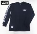 【VANS】 長袖Tシャツ CROSSED STICKS/NAVY USA企画商品