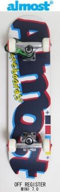 【送料無料】 almost (オルモスト) 【KIDS コンプリートボード】子供用スケートボード 完成品 7.0 OFF REGISTE