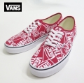 【VANS】 AUTHENTIC  OFF THE WALL REPEAT/RED   26.5cm/US8.5