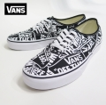 【VANS】 AUTHENTIC  OFF THE WALL REPEAT/BLACK   26.5cm/US8.5
