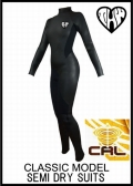 10日後お届け【送料無料】 thw wetsuits 【セミドライ/カール仕様】 クラシック/ウェットスーツ レディース【インナーネック付】