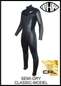 軽量伸縮起毛素材 カール仕様 【送料無料】 thw wetsuits 【セミドライ 5×3mm】クラシック/ウェットスーツ  ノンファスナー 【 レディース有り】
