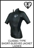 【どこよりも早いお届け】thw wetsuits【フロントジップジャケット】半袖タッパー【クラシックウェットスーツ/レディース】