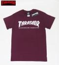 【THRASHER/スラッシャー】 Tシャツ/SKATE MAG  ワイン/Sサイズ