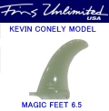 FU FIN【FINS UNLIMITED】 KEVIN CONNELY(ケヴィンコネリー) MAGIC FEET 6.5インチ ホワイト/ティント