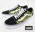 【VANS】 OLD SKOOL  ZEBRA/GREEN SHEEN BLK  26.5cm/US8.5