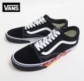【VANS】  OLDSKOOL   Flame Cut Out Black/Black