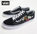 【VANS】  OLDSKOOL  CHECKER FLORAL BLACK★シーズン限定カラー★