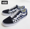 【VANS】  OLDSKOOL  CHECKER FLAME/NAVY 26.5cm/US8.5