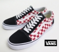 【VANS】 OLD SKOOL/Checkerboard (WHT/RED/BLK) 26.5cm/US8.5