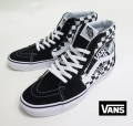 【VANS】 SK8_HI  SHARP BLACK/WHT  26.5cm/US8.5