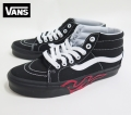 【VANS】 SK8_MID Flame Cut Out Black/Black