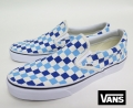 【VANS】 CLASSIC SLIPON /CHECKERBOARD (BLUE/TOPAZ) 26.5cm/US8.5
