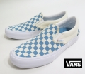 【VANS】 CLASSIC SLIP-ON PRO/Checkerboard  ADRIATIC BLUE  26.5cm/US8.5