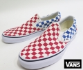 【VANS】 CLASSIC SLIPON /CHECKERBOARD (RED/BLUE) 26.5cm/US8.5