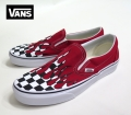 【VANS】 CLASSIC SLIPON  CHECKER FLAME/RACING RED