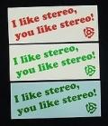 STREO(ステレオ) ステッカー 004