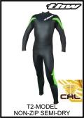軽量伸縮起毛素材 カール仕様 【送料無料】 thw wetsuit 【セミドライ/ノンファスナー T2-MODEL】 レディースサイズ有り