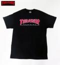 【THRASHER/スラッシャー】 Tシャツ/OUTLINED ブラック/Mサイズ