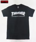 【THRASHER/スラッシャー】 Tシャツ/SKATE MAG ブラック/Sサイズ (ロゴ/WHT)