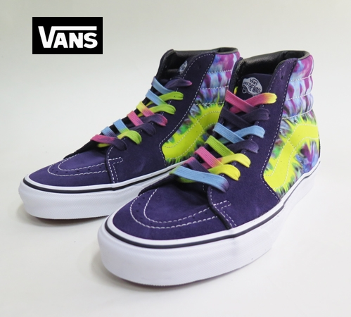 【VANS】 SK8_HI  THE DYE  Myterioso True White   26.5cm/US8.5
