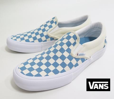 【VANS】 CLASSIC SLIP-ON PRO/Checkerboard  ADRIATIC BLUE  26.5cm/US8.5