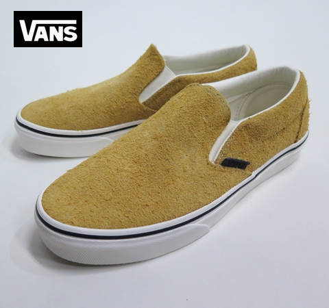 【VANS】 CLASSIC SLIPON  (Hairy Suede) Sunflower/SNOW
