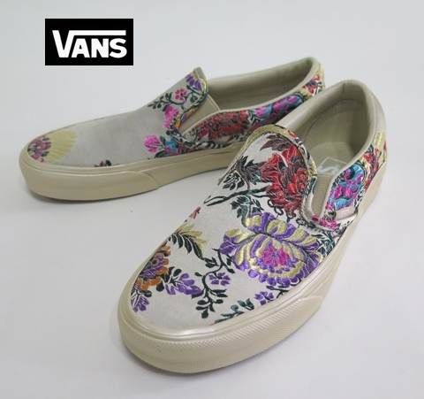 【VANS】  CLASSIC SLIP-ON  Fastival Satin/GOLD