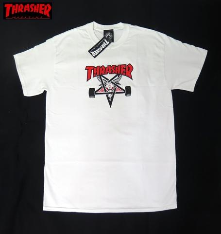 【THRASHER/スラッシャー】 Tシャツ/TWO-TONE ホワイト/Mサイズ