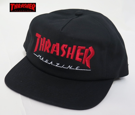 【THRASHER/スラッシャー】 キャップ/MAGAZIN LOGO TWO TONE SKATE MAG/ブラック