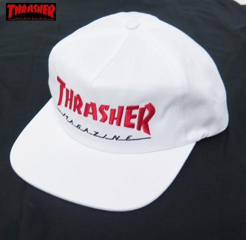 【THRASHER/スラッシャー】 キャップ/MAGAZIN LOGO TWO TONE SKATE MAG/ホワイト