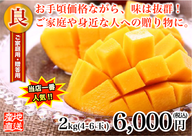 良品級サンサンマンゴー2kg