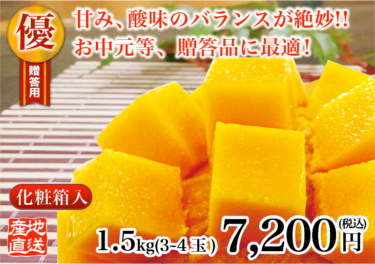 優品級マンゴー 1.5kg