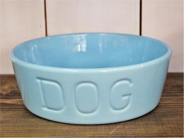 BAUER POTTERY DOG BOWL Mサイズ・パウダーブルー