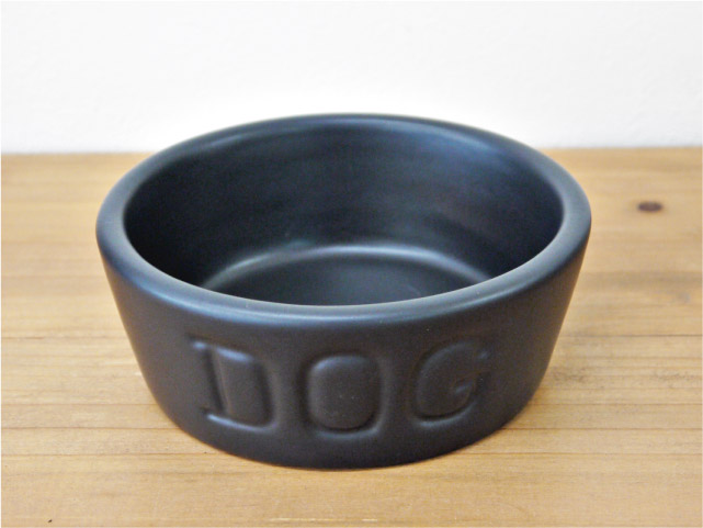 BAUER POTTERY バウアーポッタリー DOG BOWL ドッグボウル Sサイズ・ブラック(マットシリーズ)